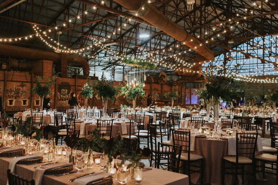 industrial rustic wedding recepetion