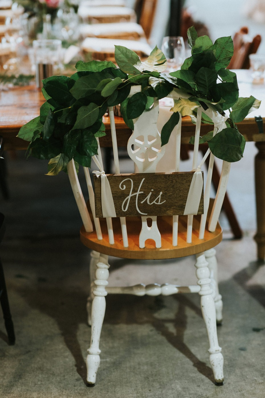 mismatched wedding chairs