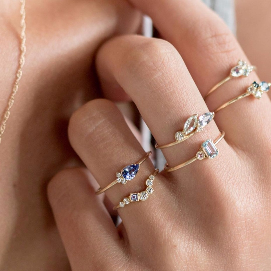 Tiny Engagement Rings Are Kind of Having a Big Moment