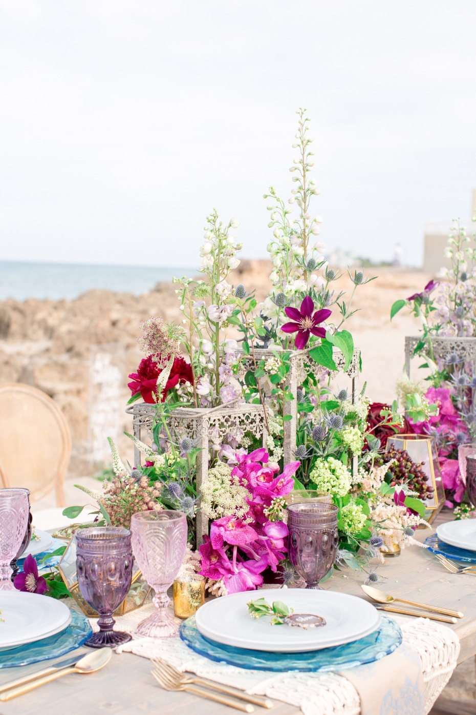 boho wedding centerpiece floral ideas