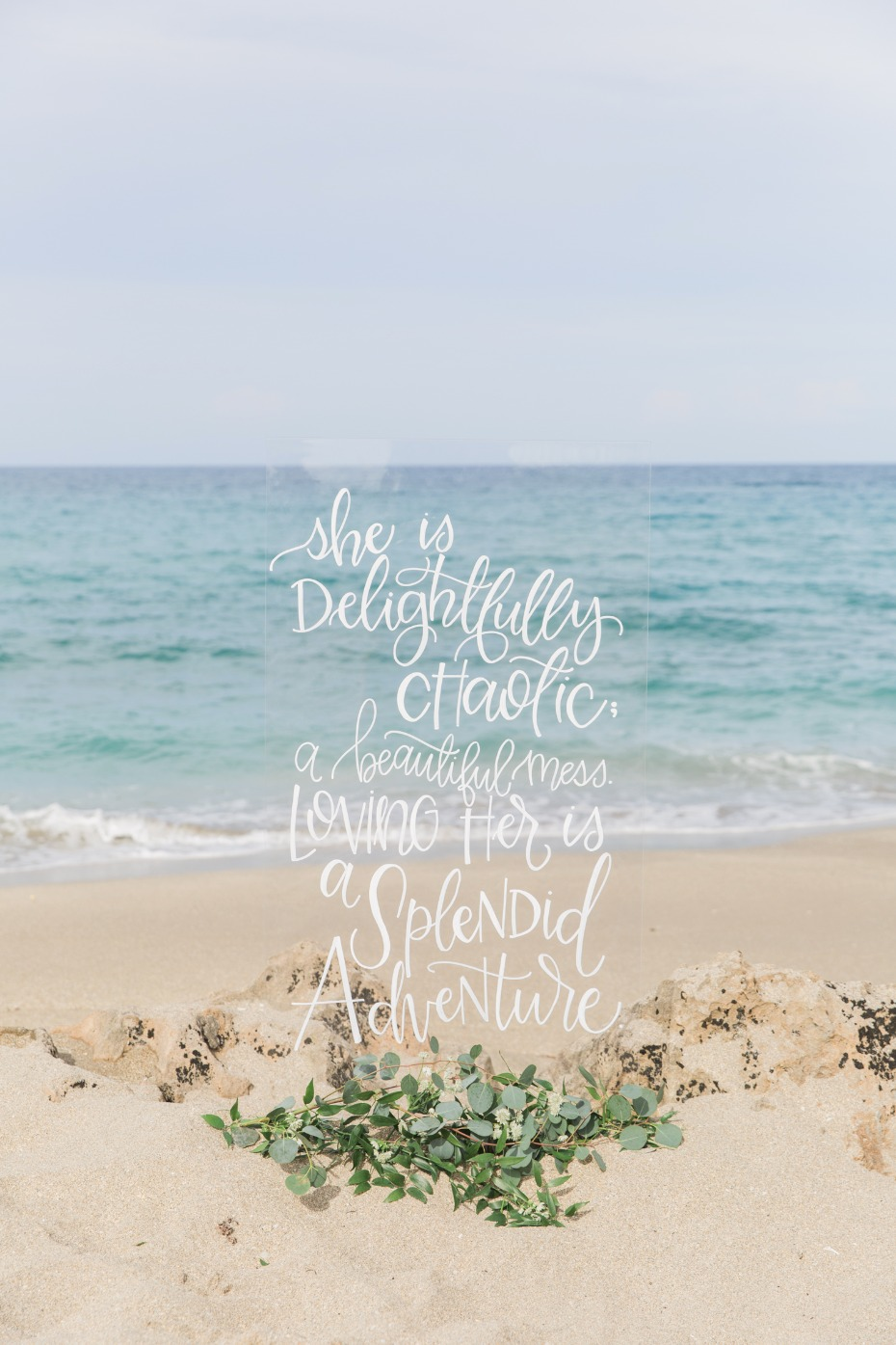 She is delightfully chaotic, a beautiful mess. Loving her is a splendid adventure sign