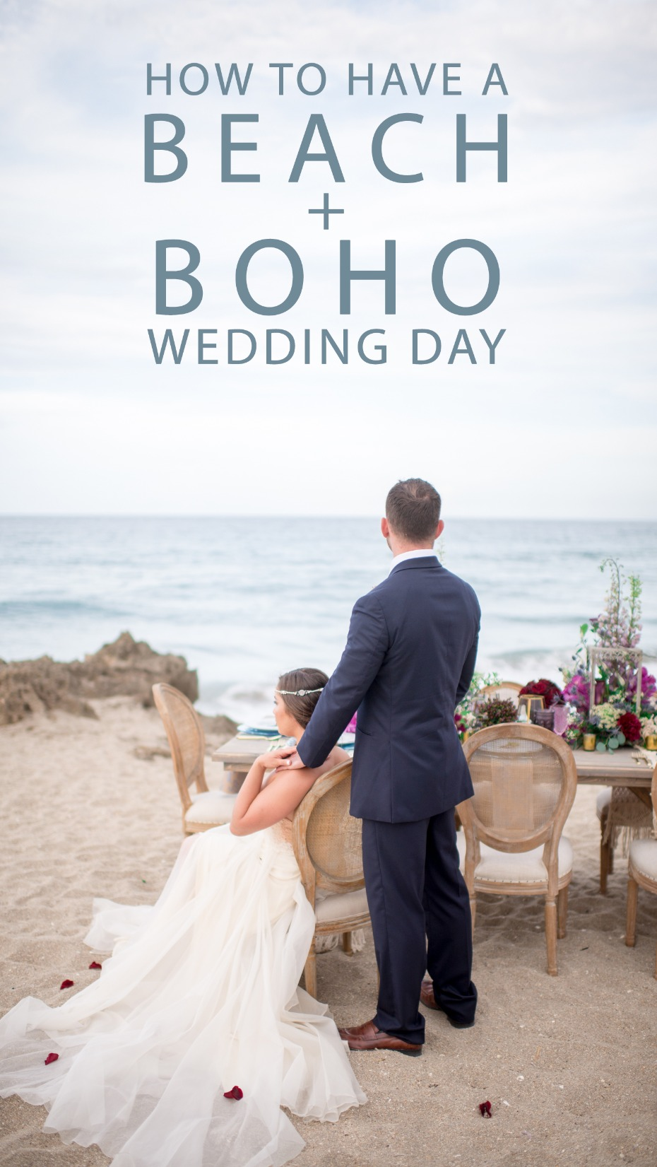 how to have a beach boho wedding day