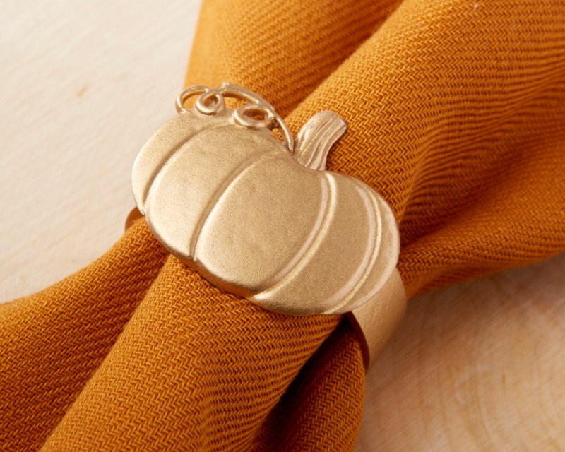 Pumpkin Napkin Ring brings a bit of autumn charm to your fall wedding tables!