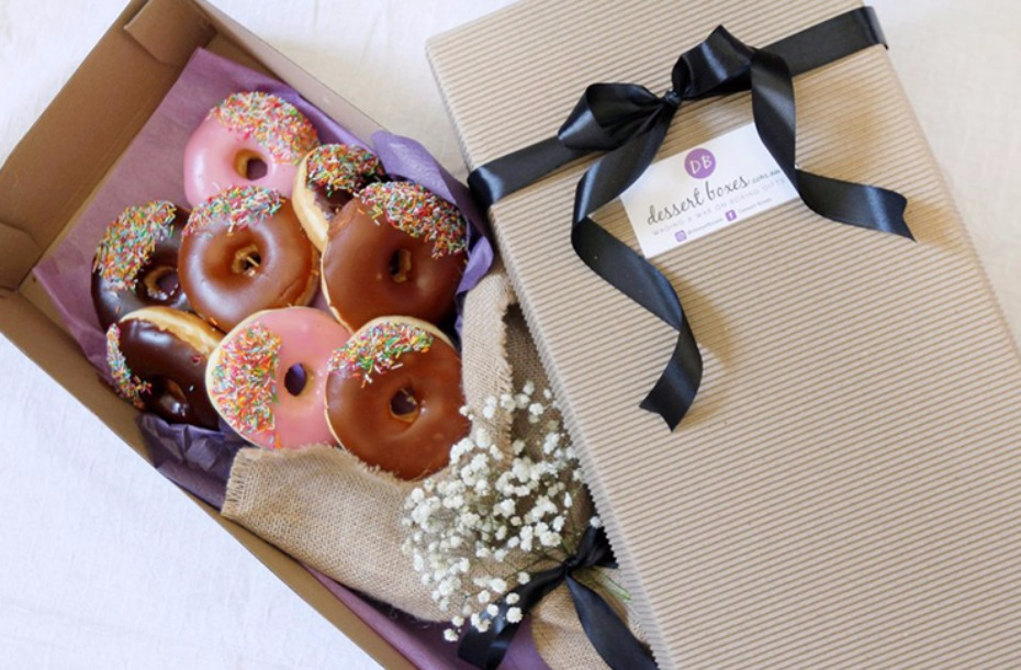 donut bouquet because you cannot eat flowers