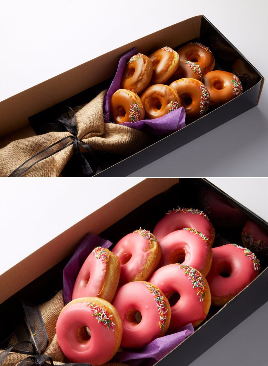 how to send a donut bouquet