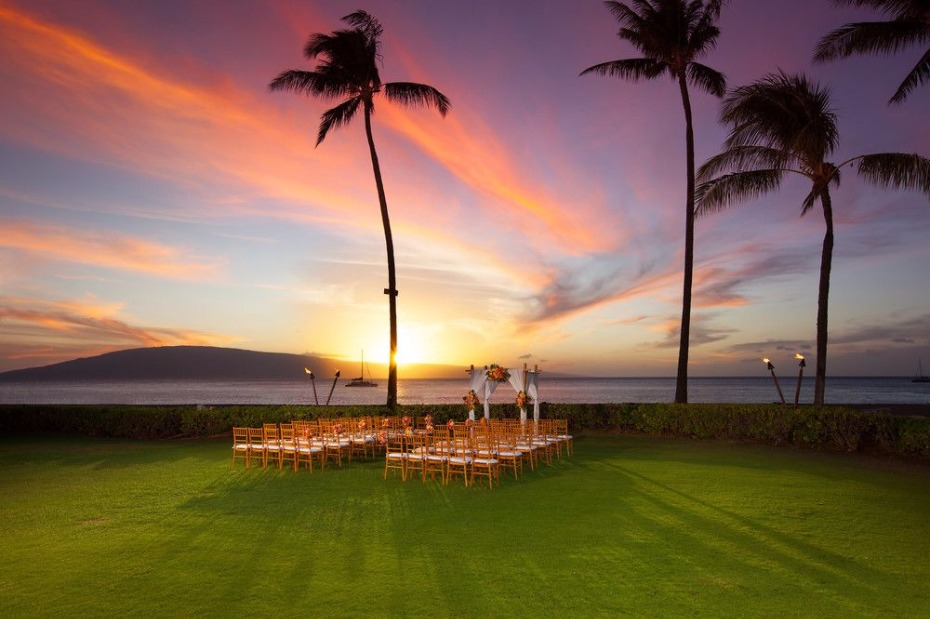 get married at sunset at The Sheraton Maui Resort & Spa