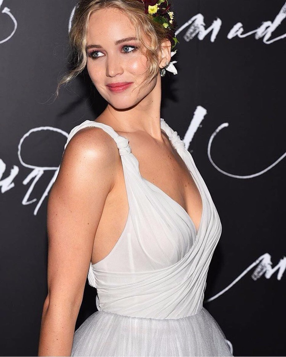 Jennifer Lawrence Rocks Bride Fashion Like No One Else