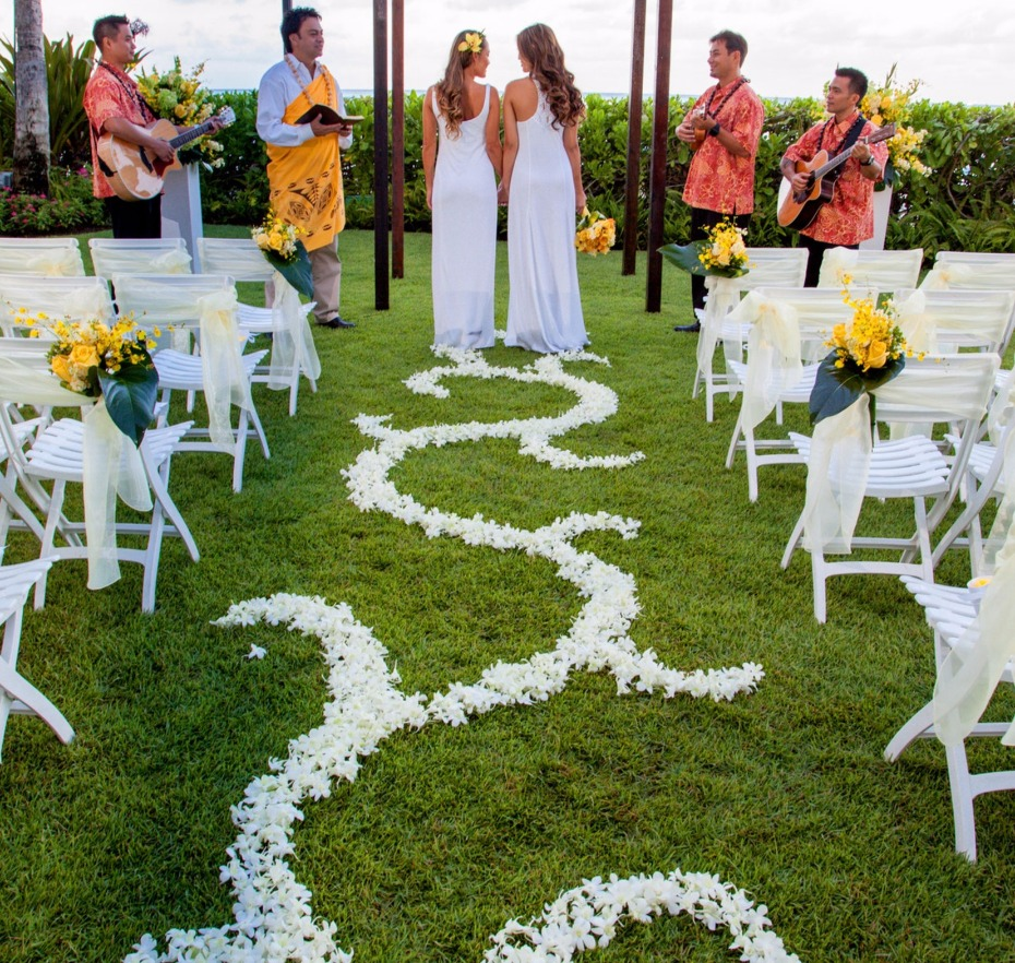 Oahu ocean front wedding venue