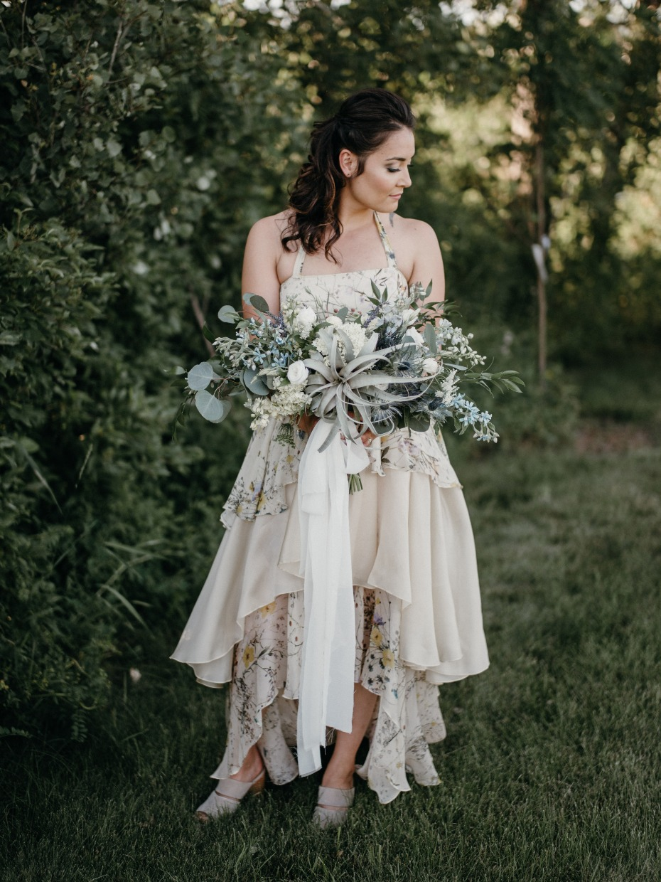 Gorgeous bridal look for the non-traditional bride