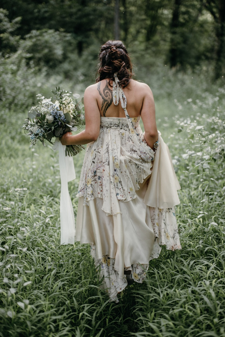 Non-traditional wedding dress for the outdoorsy bride