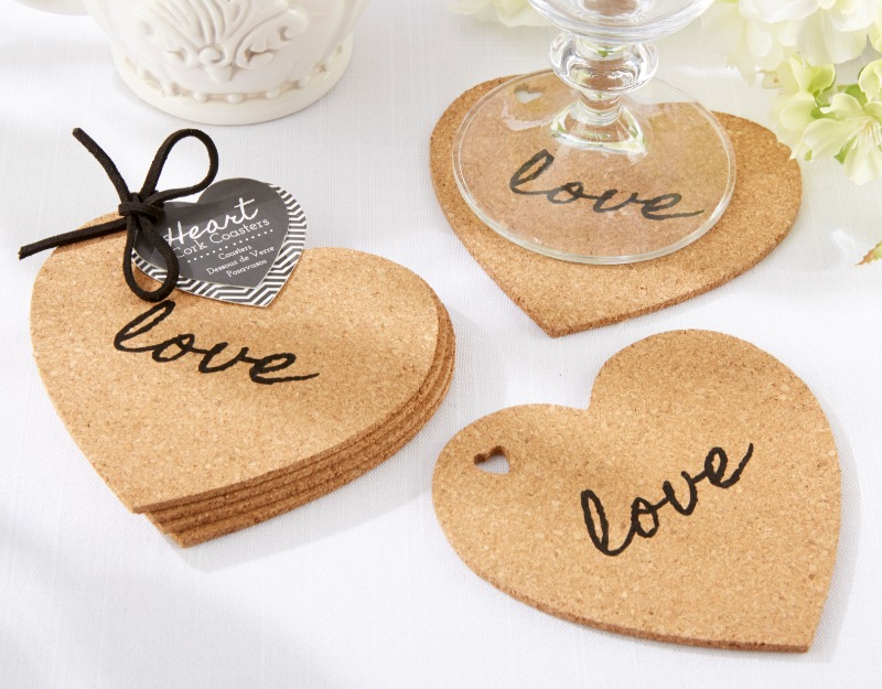 ❤ When you toast to love, these cork coasters are exactly where you want to rest your glasses!