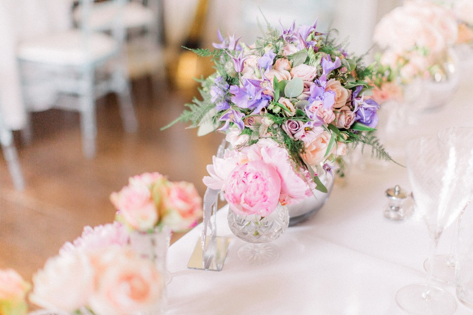 pink and purple floral decor