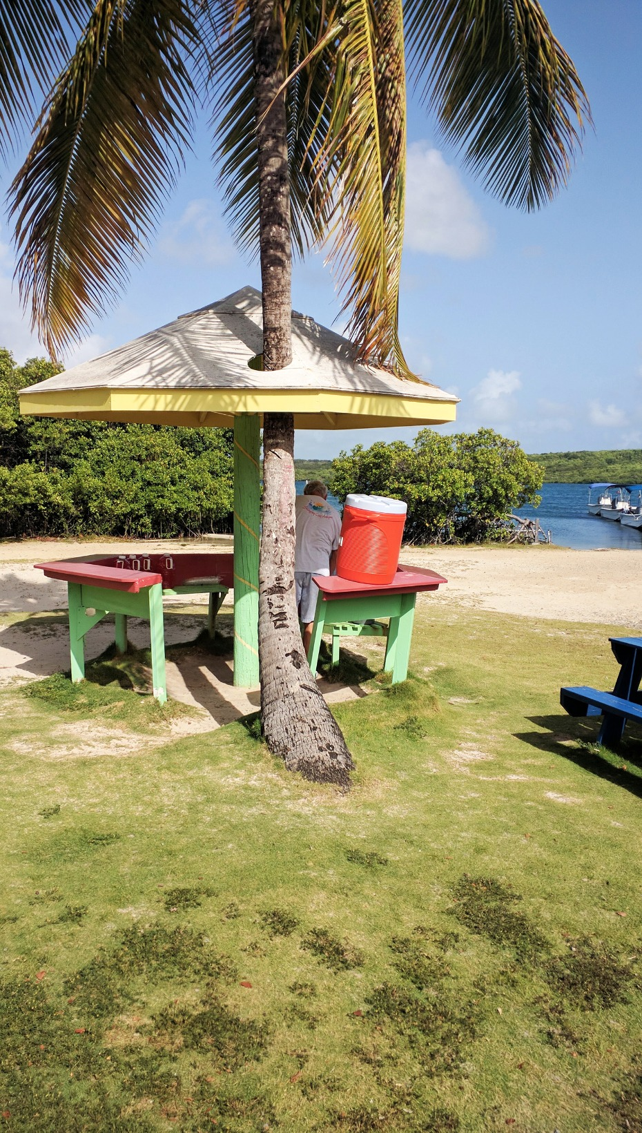 Rum punch stand in Antigua