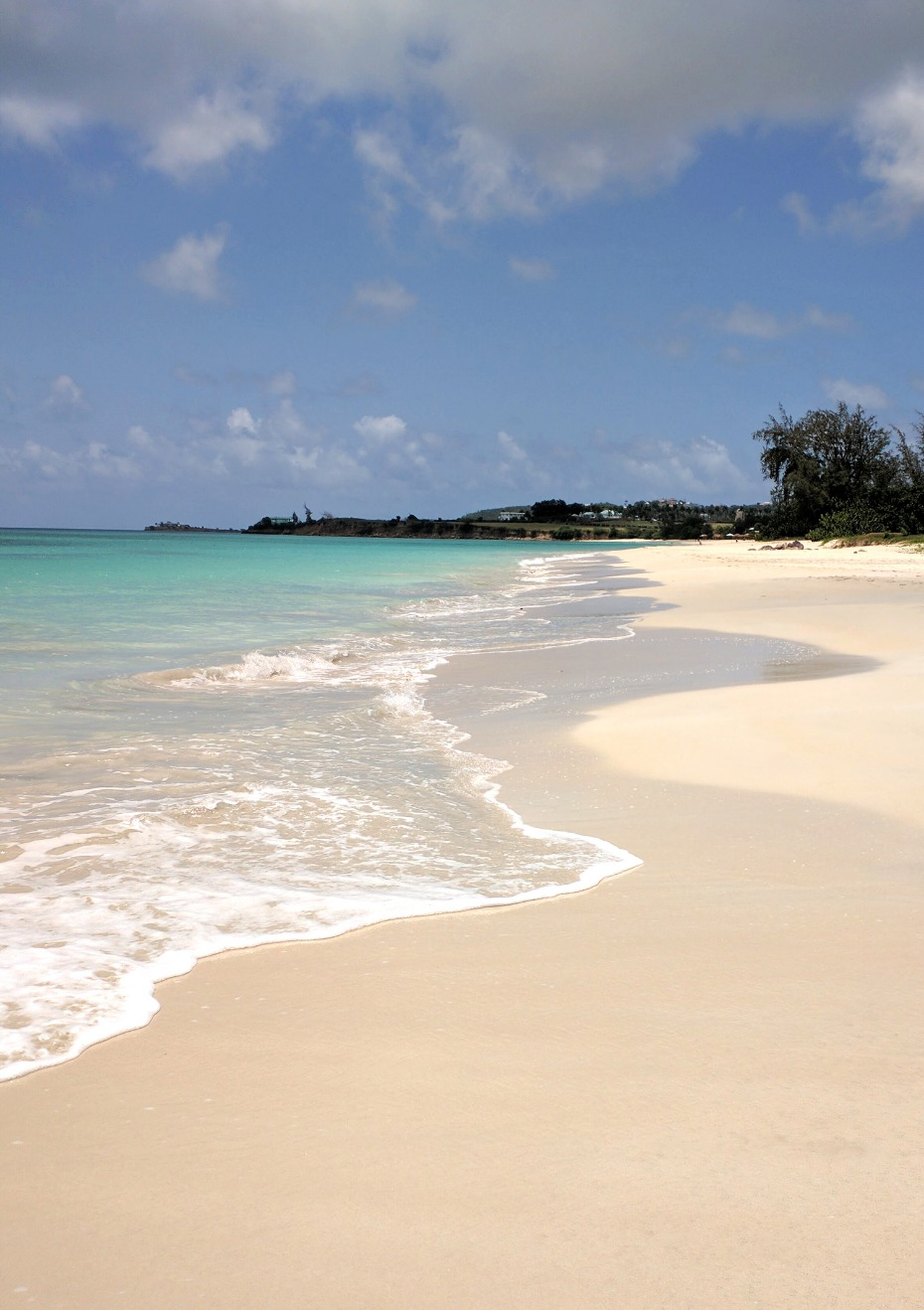 Gorgeous white sand beach in Antigua
