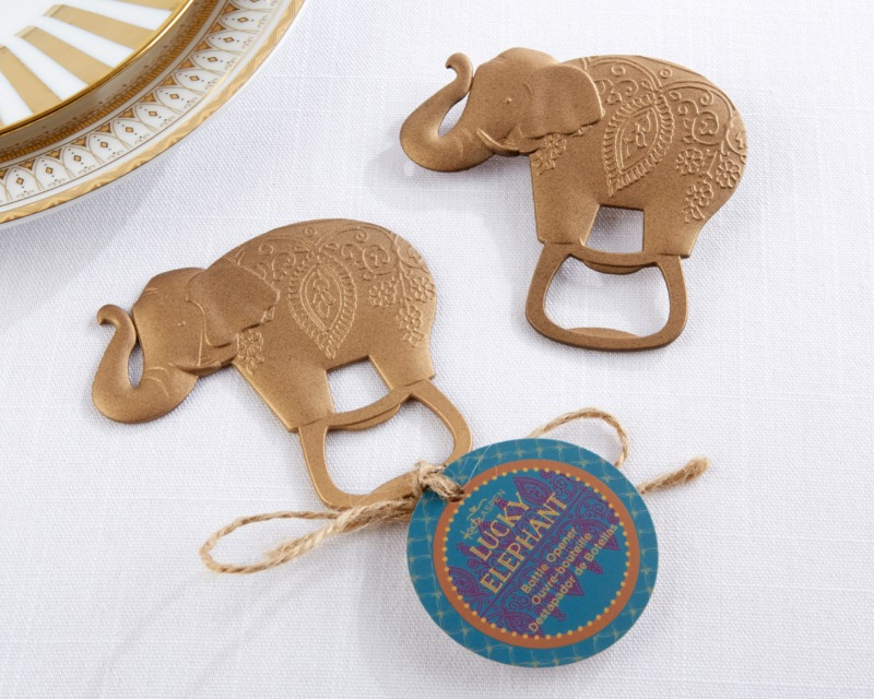 🐘 Lucky Golden Elephant Bottle Opener gives your guests a way to always remember your celebration!