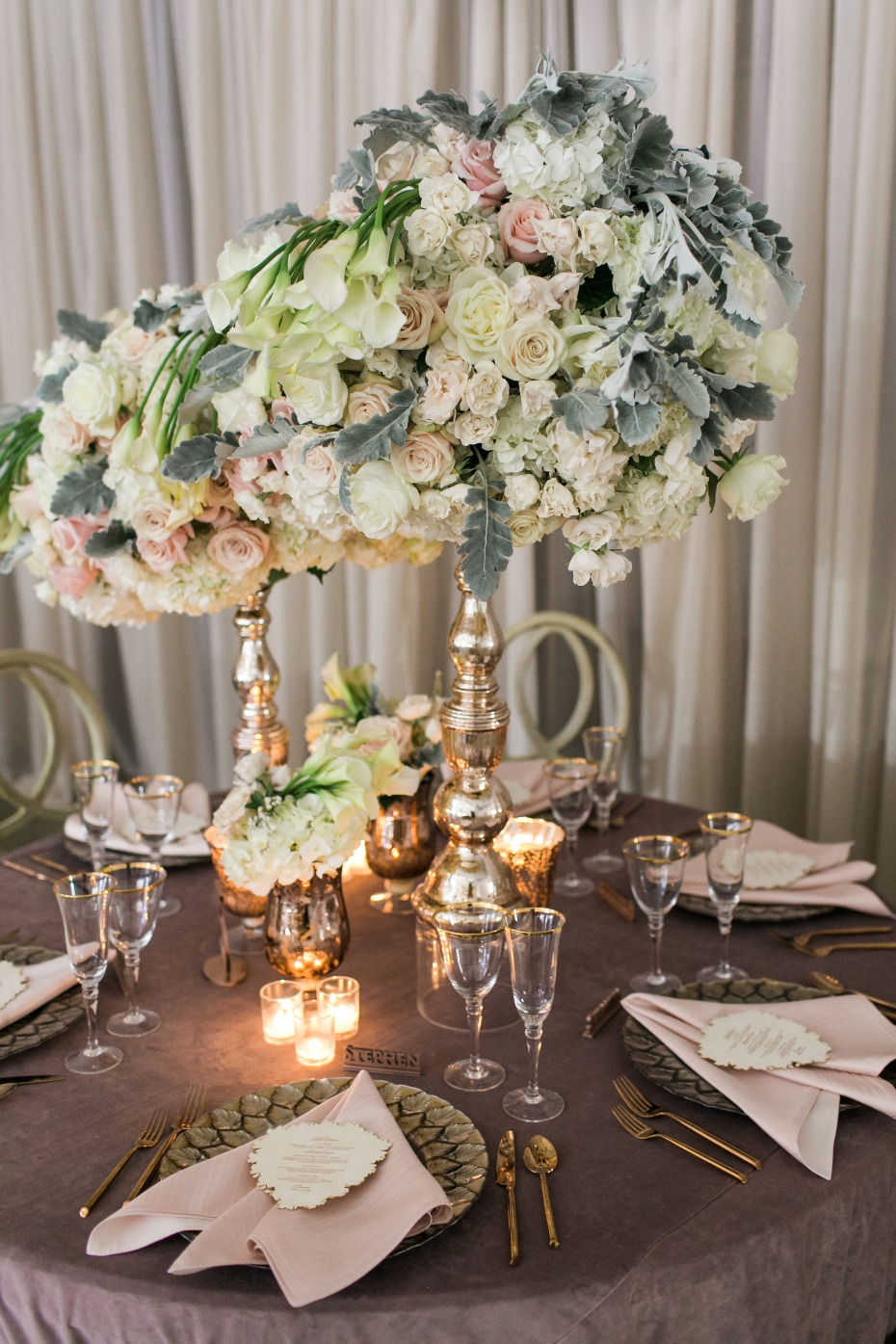 asymmetrical wedding centerpieces