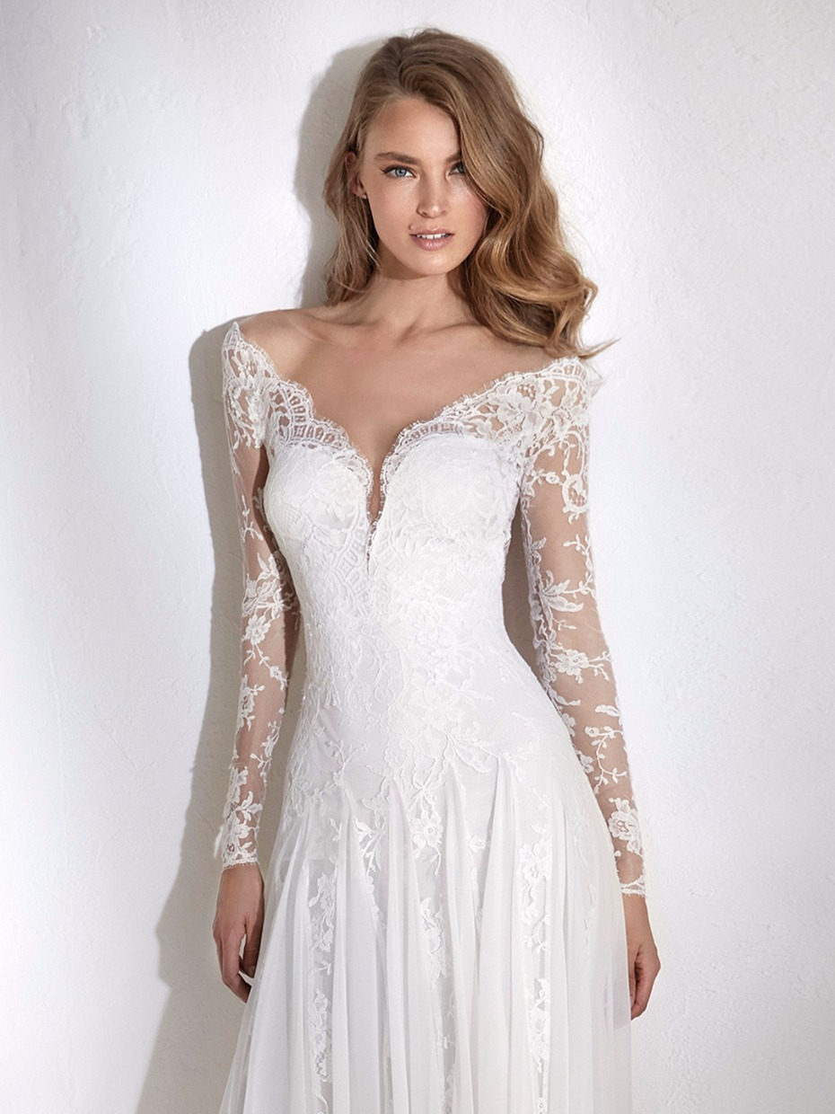 Lace Wedding Dress Off The Shoulder V Cut