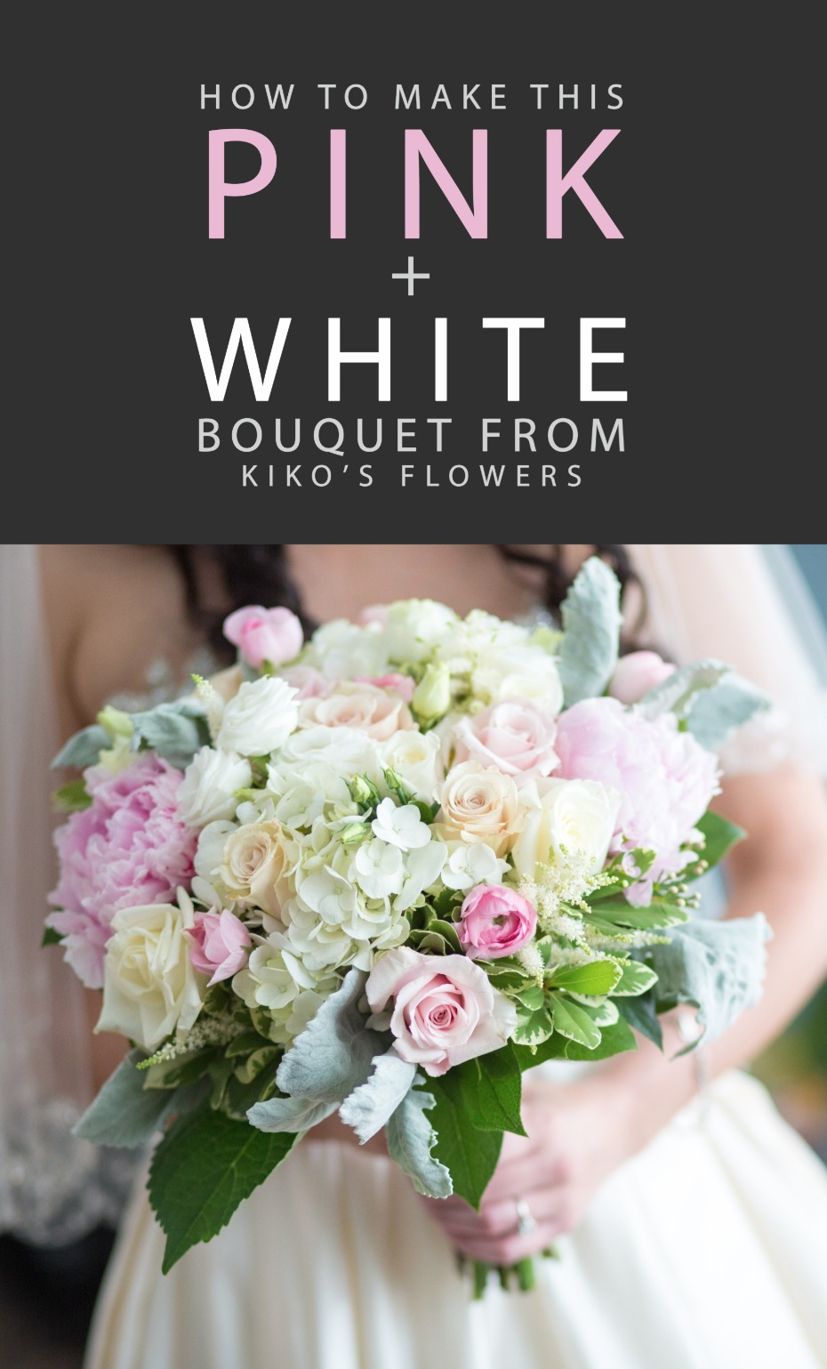 how to make this pink white bouquet