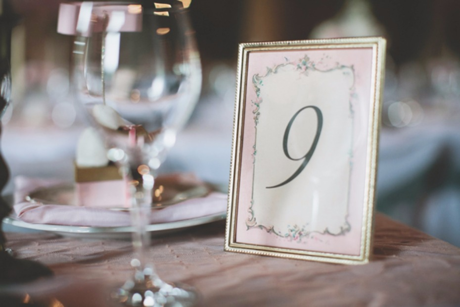 framed table number