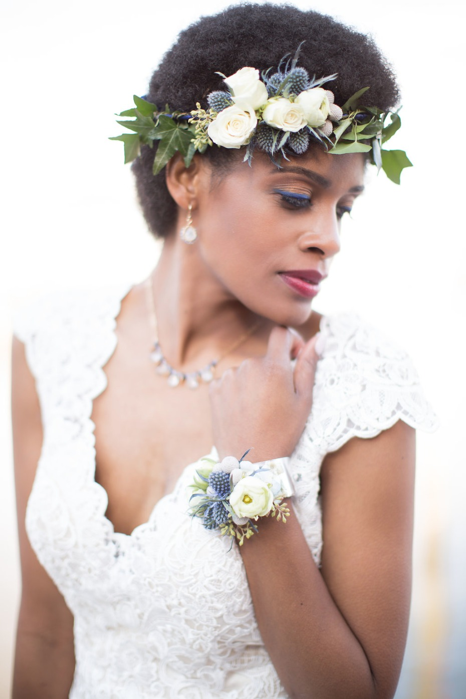 Beautiful flower crown and corsage