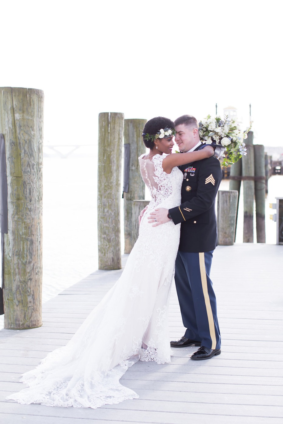 Beautiful winter seaside elopement turned real-life vow renewal