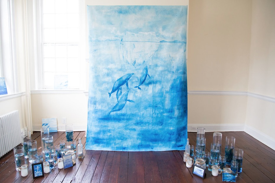 Blue whale water color backdrop
