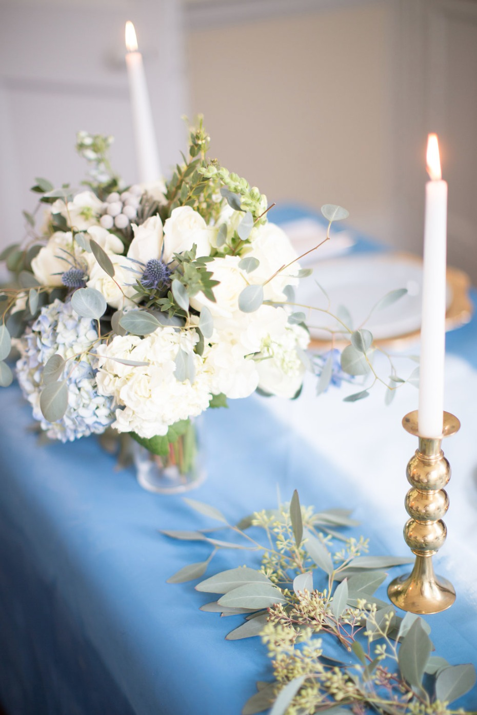 Keep the decor simple and romantic for your sweetheart table