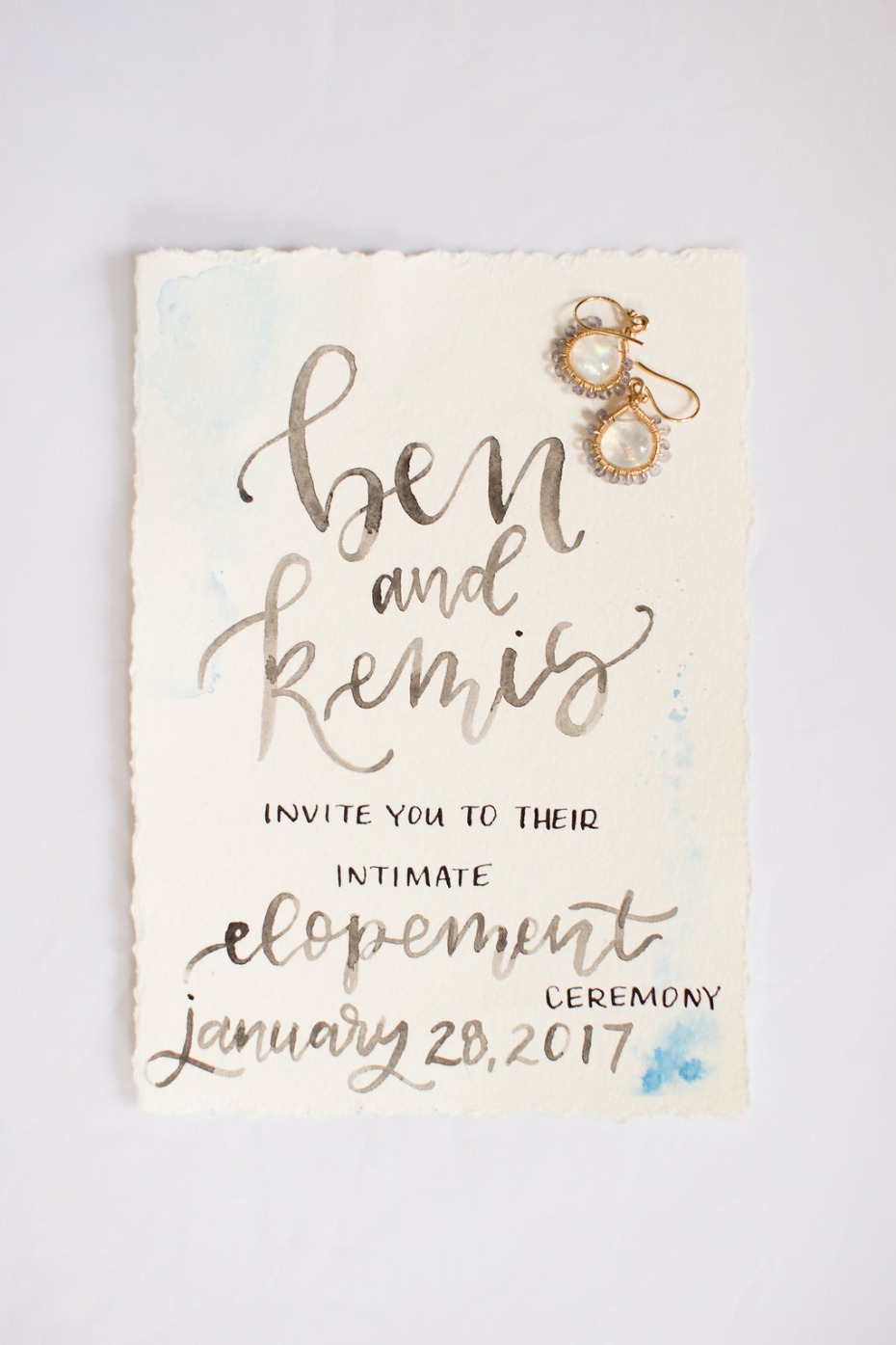 Lovely calligraphy invite