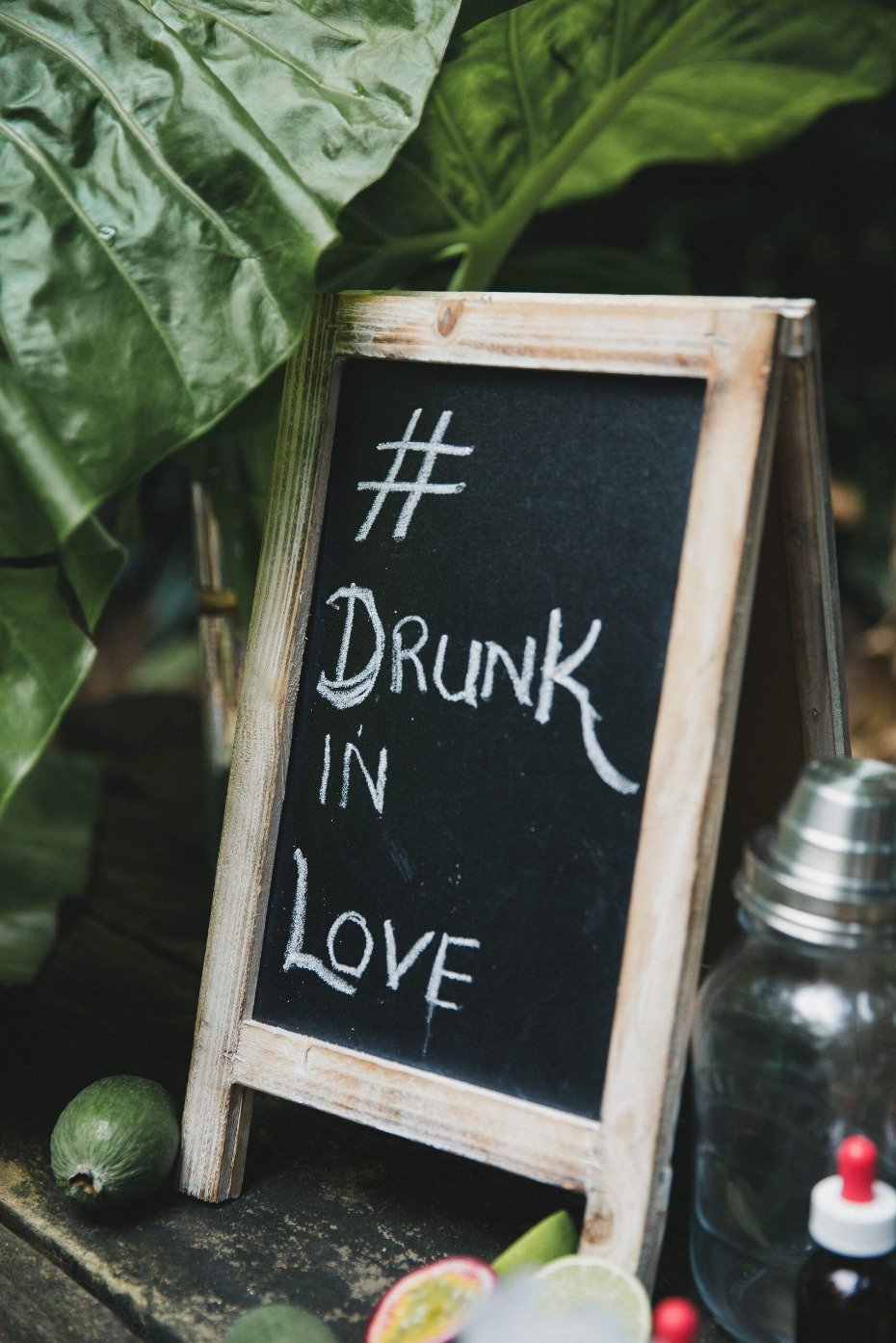 Drunk in love wedding sign