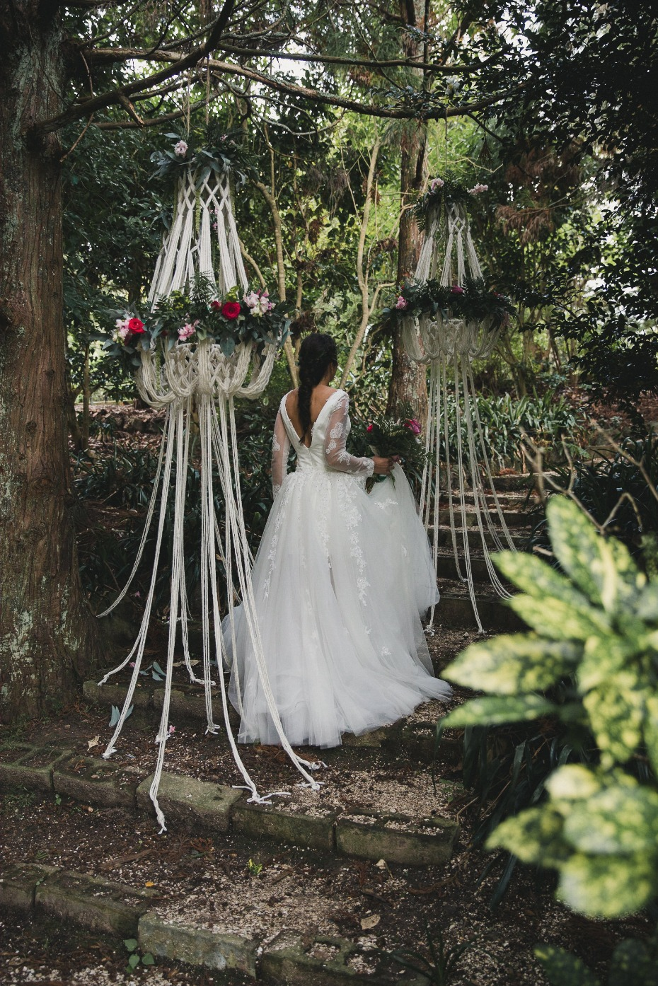 macrame wedding chandeliers