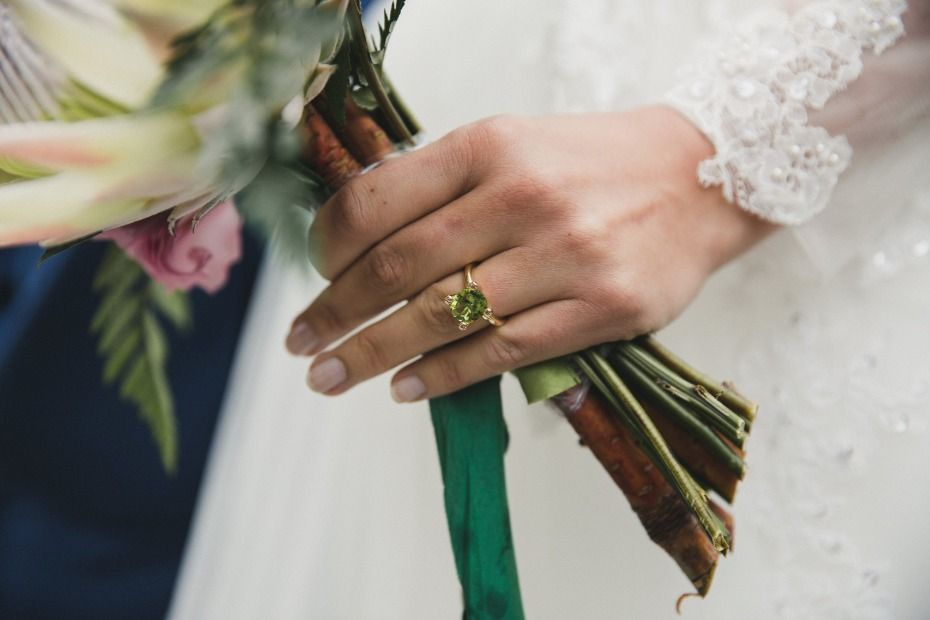 green wedding ring