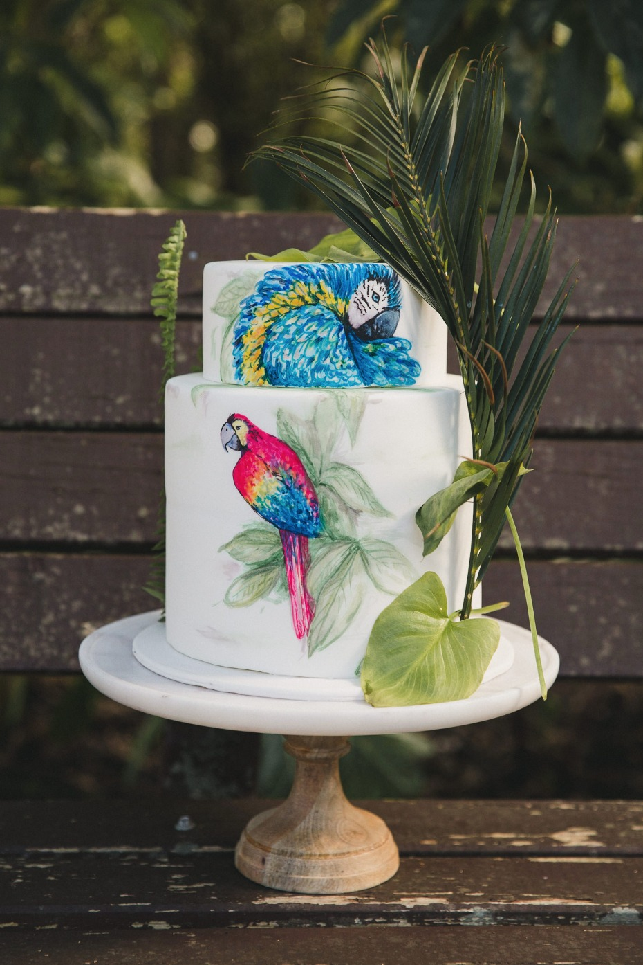 tropical wedding cake idea