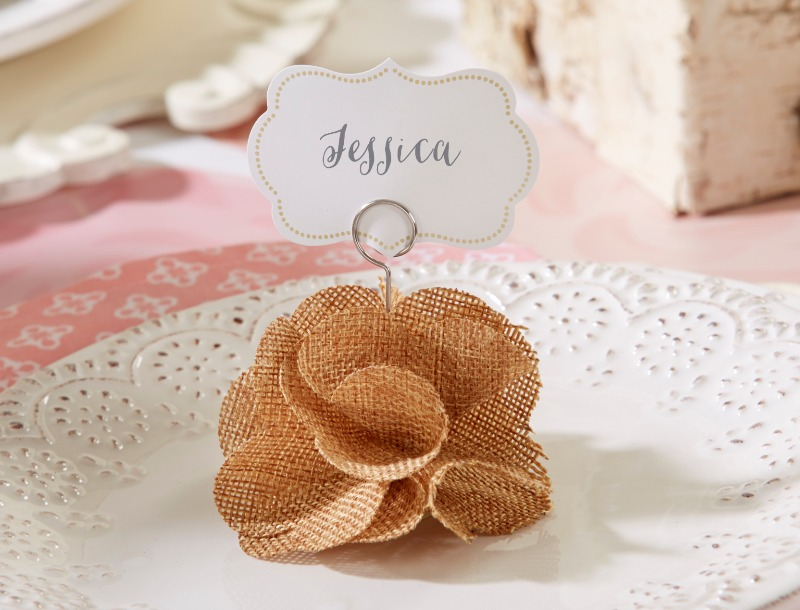 It's only natural to fall in love with these romantic rose place card holders. They add a romantic, handmade DIY touch to your table