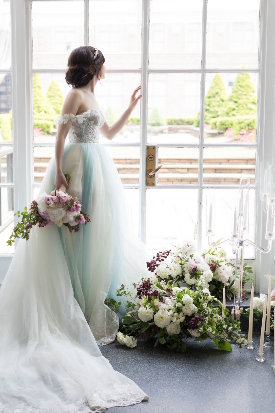 Gorgeous blue tulle gown from Galia Lahav