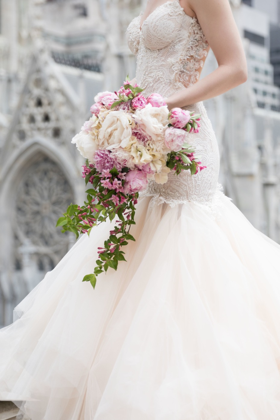 Beautiful blush and white floral bouquet