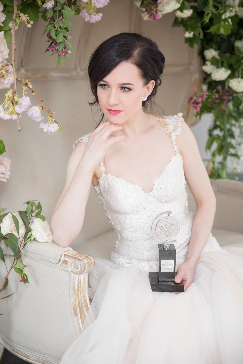Tony award winner, Lena Hall plays dress up in Galia Lahav