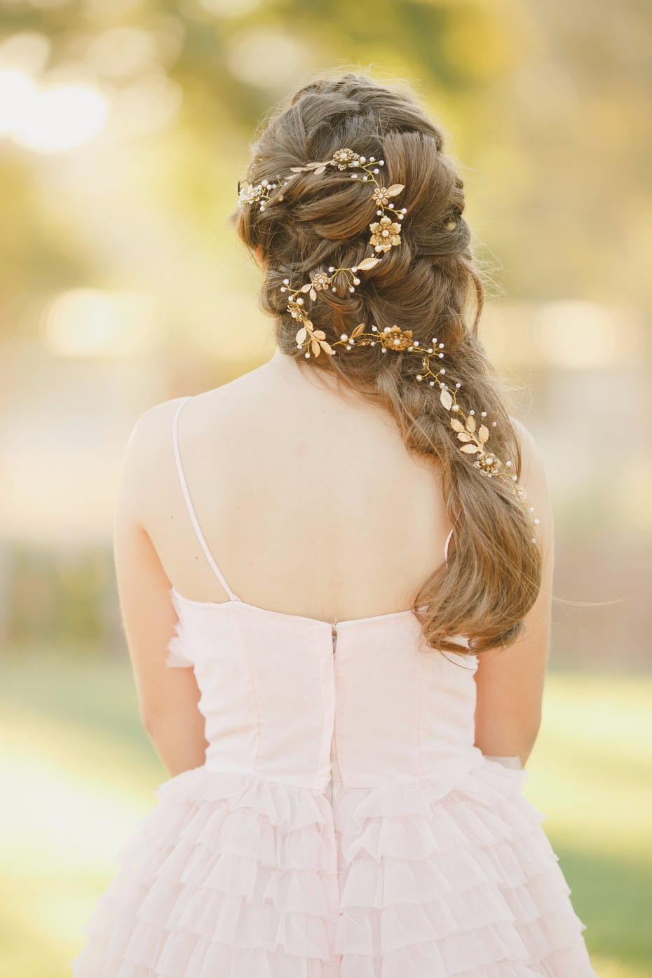 Gold vine hair accessory from Be Something New