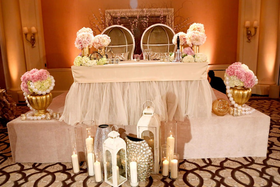 sweet heart table for Tamara Barney Wedding