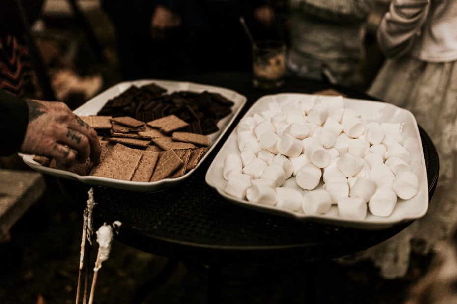 smores for your wedding reception