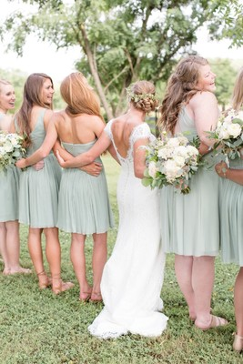 Mint And Gray Rustic Barn Real Wedding