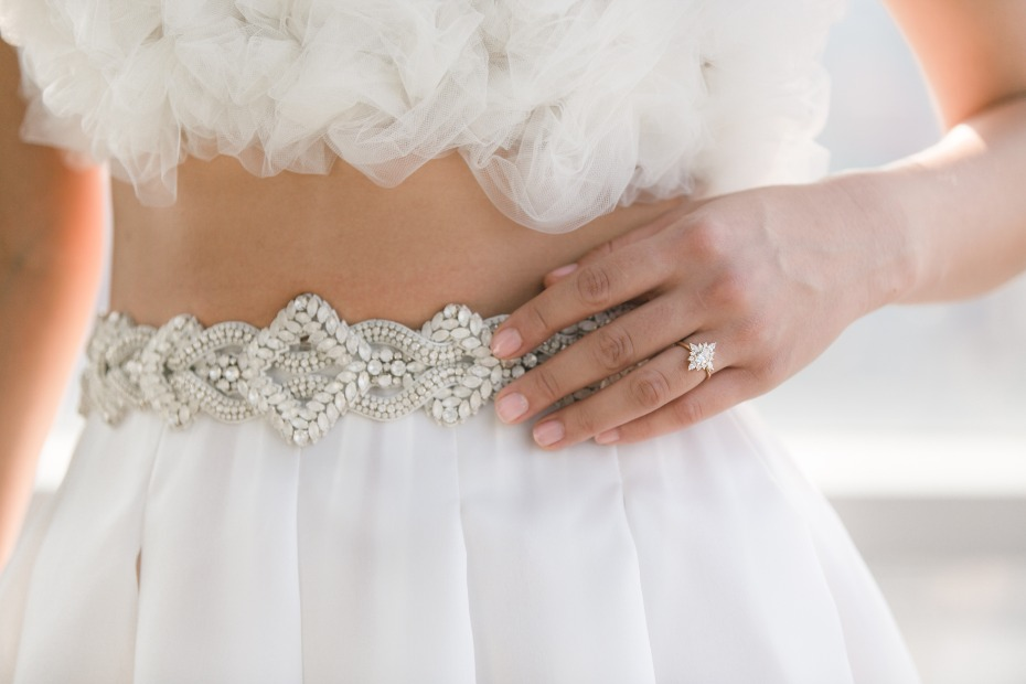 belted wedding skirt