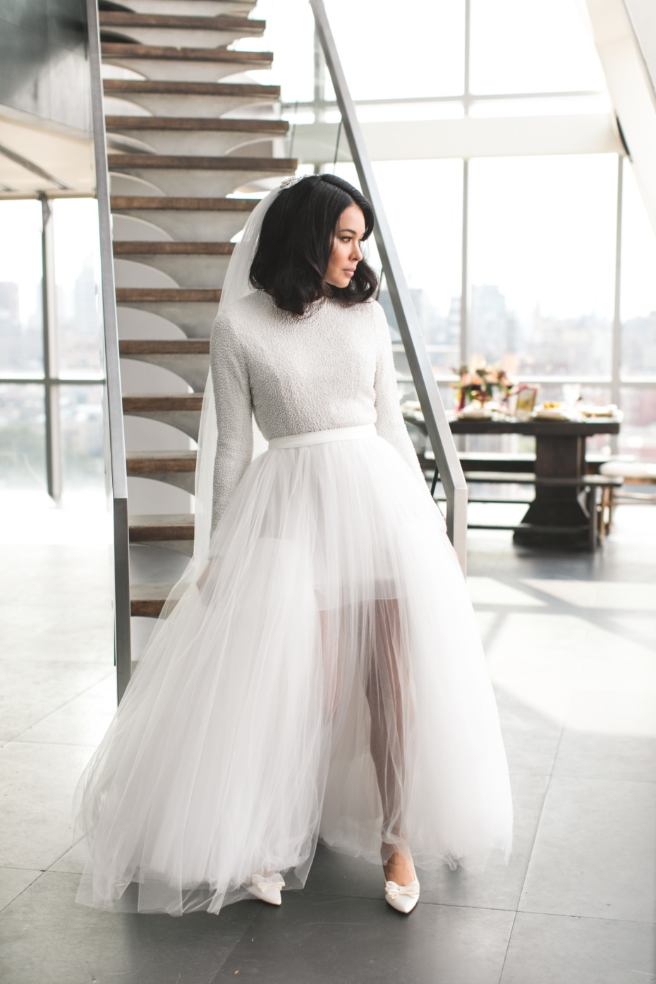 chic tulle wedding skirt
