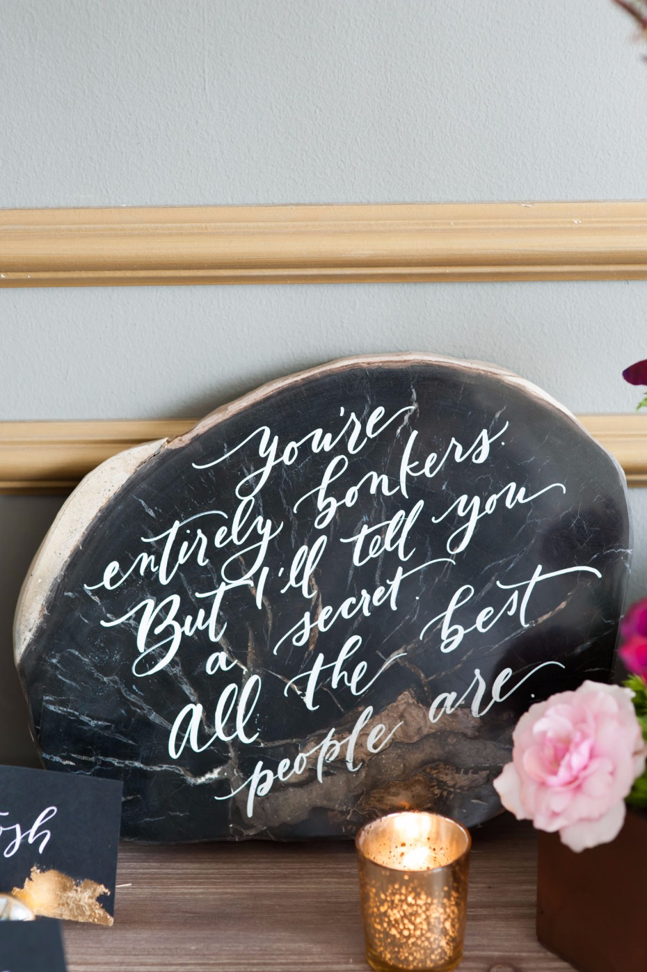 Alice in Wonderland quote for a wedding
