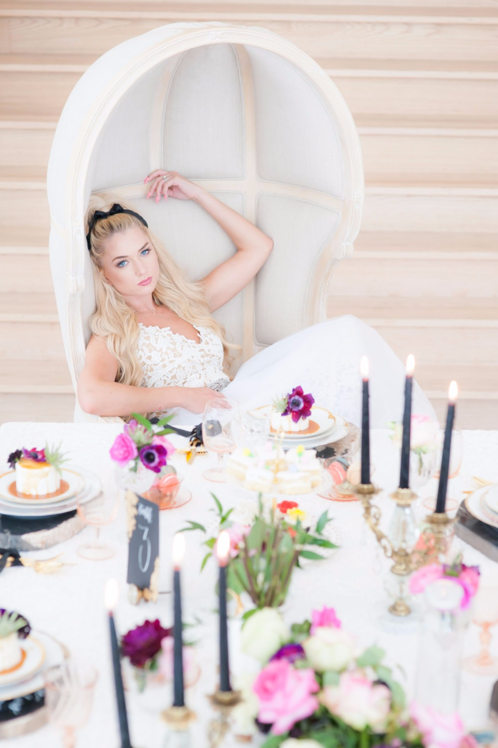 A Very Modern Alice in Wonderland Wedding Shoot with an Edgy Twist