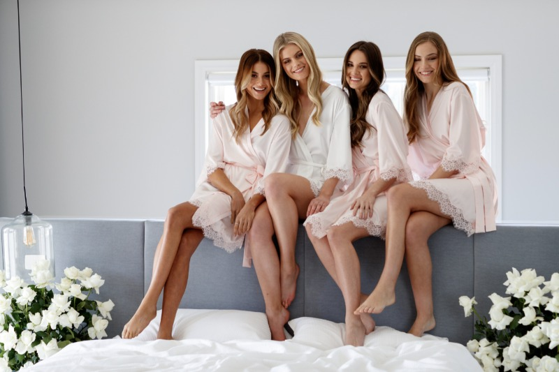 Beautiful satin robes for you and your Bride Tribe