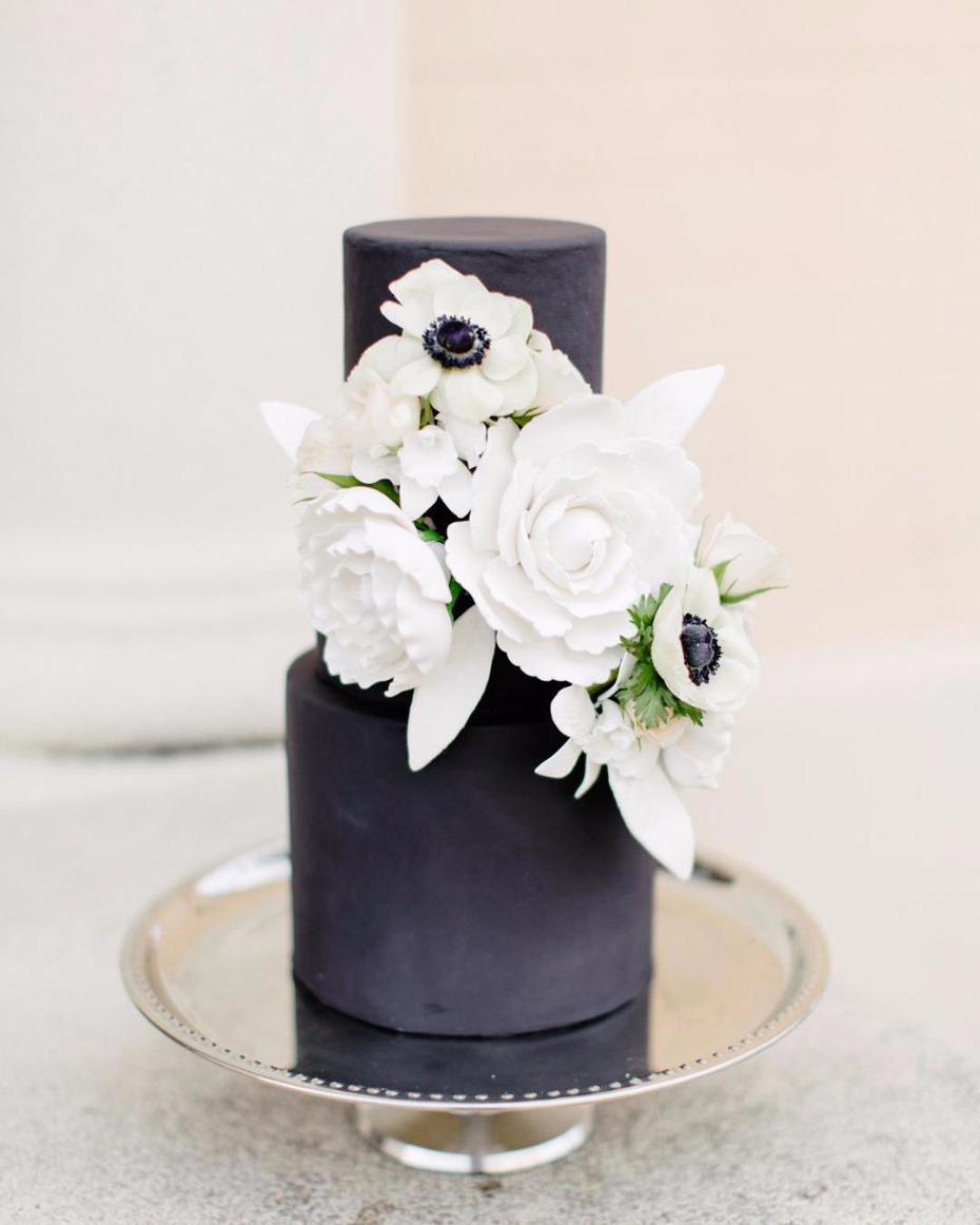 Black Wedding Cakes Are Trending HARD