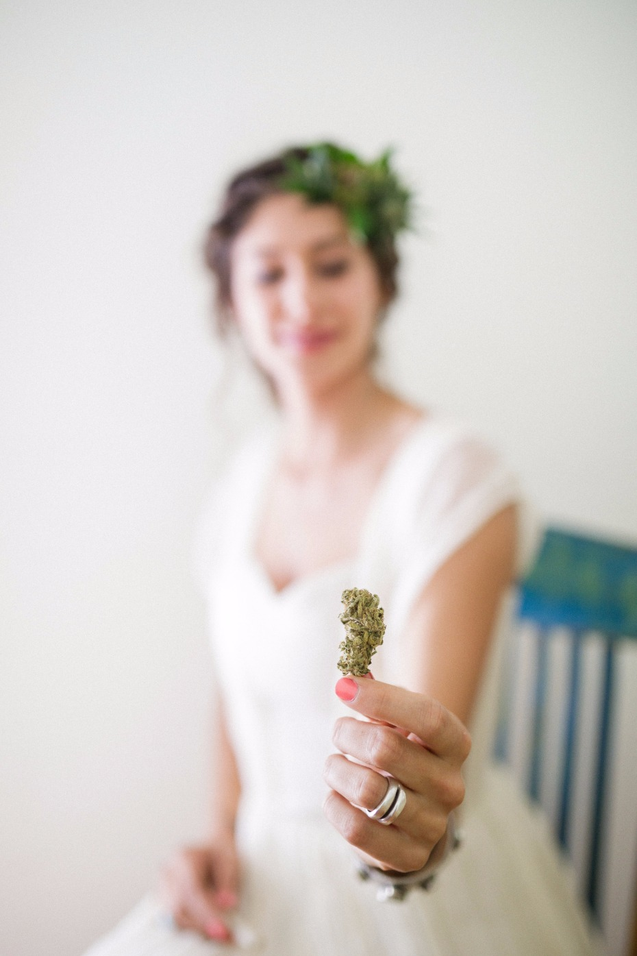 The cannabis bride and her little bud