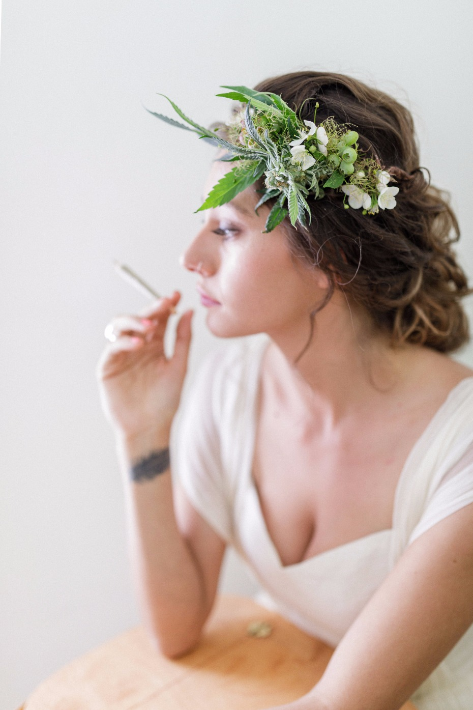 Cannabis floral crown