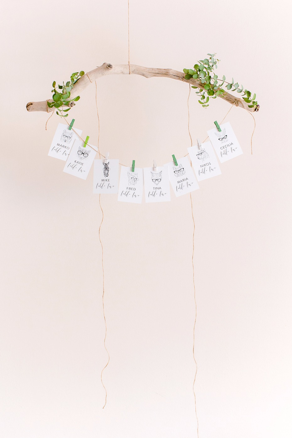 Place card display idea