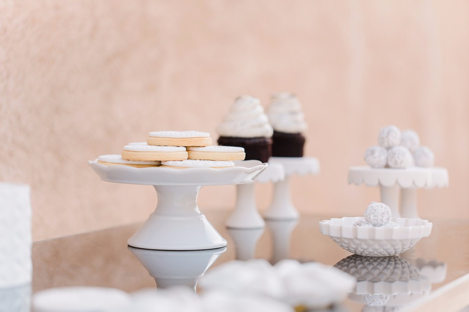 Minimalist dessert table